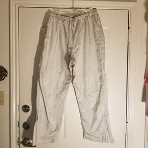 Vintage Catalina Wind Pants, Silver, sized 16/18